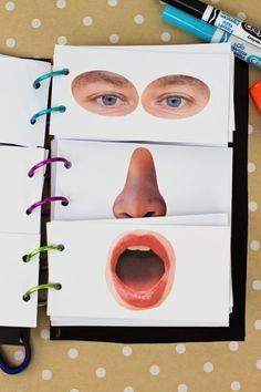Il libro delle facce buffe Tra i vari lavoretti che vi proponiamo, ce ne sono sempre i che coinvolgono la carta, un materiale riciclabile che ci...