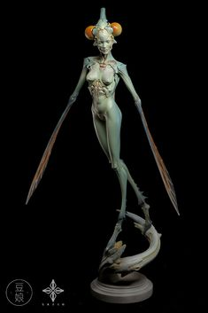 ArtStation - 豆娘, sazen lee Creature Feature, Creature Design, 3d Character, Character Design, 3d Figures, Art Sculpture, Creature Concept, Sci Fi Art, Fantasy Creatures