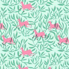 Elisa Mac 'Jumping deer' Print www.elisamac.com