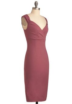 Lady Love Song Dress in Mauve, #ModCloth