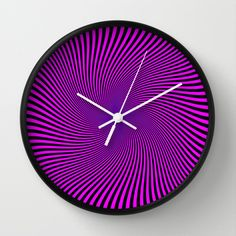 Black+and+Purple++Wall+Clock+by+Elena+Indolfi+-+$30.00