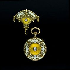 """This is a truly magnificent master/timepiece by Sir John Bennett of London, """"Makers to the late Queen Victoria"""" with a Swiss movement marked """"Paris Grand Prix 1900"""". Surpassing gold repousse work exhibits Neo-Classical influences which is set off with gorgeous translucent gold and ivory enameling. A stunning and highly collectible treasure."""
