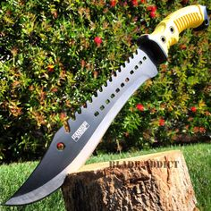 """16"""" TACTICAL HUNTING SURVIVAL FIXED BLADE MACHETE KNIFE Camping Axe Sword YW - MEGAKNIFE"""