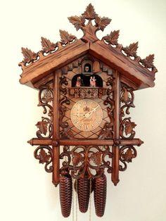 Cuckoo Clock Hettich Black Forest 8 Day Original German Music Wood | eBay