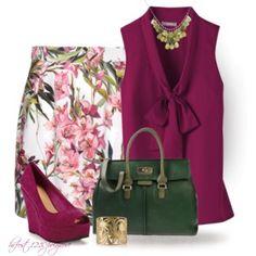 * DOLCE & GABBANA Floral Skirt *