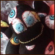 This ones eye balling you made this last year #halloween #scary #eyeball #sewing #handmade #sunnyteddys