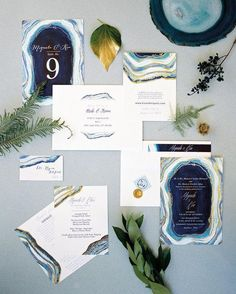 Gilt Agate Wedding Suite by Kaydi Bishop - Photo by Chudleigh Events menu and invitation art background Wedding Invitation Inspiration, Wedding Invitation Design, Wedding Stationary, Wedding Inspiration, Wedding Paper, Wedding Cards, Wedding Stuff, Wedding Rings, Persian Wedding