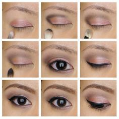 rose smoky eyes using urban decay naked 3