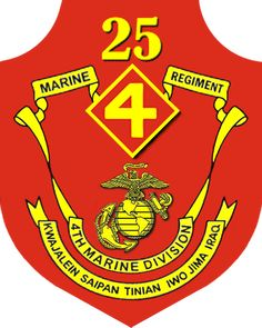 #25th Marine Regiment (25th Marines) is one of three infantry regiments in the 4th Marine Division of the United States Marine Corps. From its headquarters in Fort Devens, Massachusetts, the regiment commands fifteen training centers in nine states throughout the Northeast. These units consist of approximately 3,500 reserve and active duty Marines and are located from Maine to Delaware, West Virginia and as far west as Ohio. The #25h Marines is primarily a cold weather regiment and…