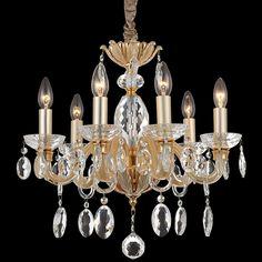 Kronleuchter Imperial Gold Klassisch Kristall #lüster #gold #glas  #kristalle Https:/
