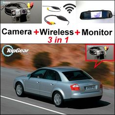 68.48$  Buy now - http://ali0ld.worldwells.pw/go.php?t=32471800461 - 3 in1 Special Rear View Camera + Wireless Receiver + Mirror Monitor Easy DIY Back Up Parking System For Audi A4 B5 8D 1994~2001