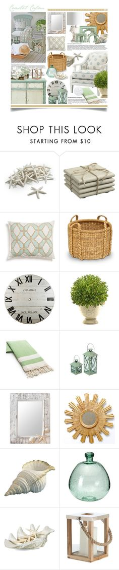 """""""Calming Coastal Decor"""" by hmb213 ❤ liked on Polyvore featuring interior, interiors, interior design, home, home decor, interior decorating, Sur La Table, Crate and Barrel, Kevin O'Brien and Palecek"""