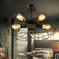 Aliexpress Comprar Americano Rh Loft Estilo Rural Diseñadores Creativos Ventilador Eléctrico Retro Ceiling Lightsceiling Lampsbedroom