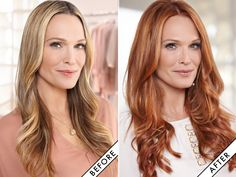 GORGEOUS RED!!!! Molly Sims Goes Red (and Reveals the Celeb Inspiration Behind Her New Look)   Daily Makeover
