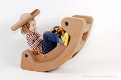 Cardboard toy ride