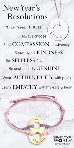 ✨A Mindful New Year's Activity!✨Ask your loved ones for their WORD of intention. Gift them a handstamped bracelet as a daily reminder of their hopes, dreams, or what matters most. As seen on the Today Show and O, The Oprah Magazine. Quotes To Live By, Me Quotes, Motivational Quotes, Inspirational Quotes, Meaningful Conversations, Deep Thoughts, Law Of Attraction, Wise Words, Positive Quotes