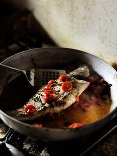 Sea bass Sicilian style