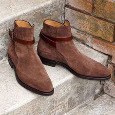 Jodhpurs Ankle Boot Men Brown Ankle High Suede Leather Men's Suede Boot - Boots