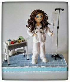 Fofucha médico o enfermera.