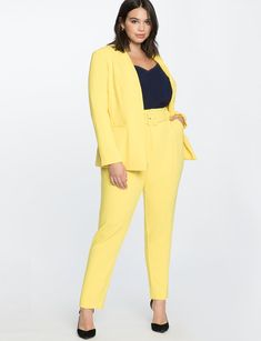 High waisted trouser with belt women's plus size pants eloquii. Plus Size Suits, Plus Size Jeans, Plus Size Womens Clothing, Plus Size Fashion, Trendy Clothing, Size Clothing, Elegant Clothing, Petite Fashion, Womens Fashion