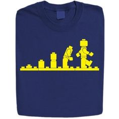 Stabilitees Funny Printed Lego Evolution Designed Mens T Shirts. The design shows the evolution of the first lego men. Great gift for Lego fans. Printed on 100 % Cotton Gildan Heavy Weight T Shirt. Lego Shirts, Lego Store, Slogan Tshirt, Evolution T Shirt, Funny Prints, Lego Design, Funny Design, Kids Fashion, T Shirts For Women