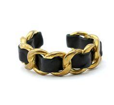 Chanel Gold and black Metal Bracelet | VAUNTE