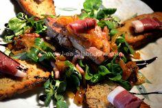 salade gourmande Entrees, Pork, Chicken, Fiesta Kitchen, Chopped Salads, Cooker Recipes, Kale Stir Fry, Pigs, Appetizers