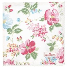 GREENGATE jetzt bestellen bei HIHOLA HOUSE&GARDEN - GreenGate Stoffserviette Donna white mit farbenfrohem Blumen