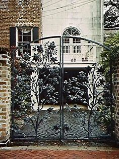 """Savannah Wrought Iron Gate"" this would be really beautiful too"