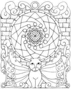 Mandala Madness A Fun Cat To Color