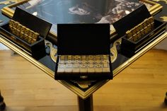 The Scarface Domino Table includes a set of golden double six domino gaming pieces which completes the gorgeously stunning gaming table. Domino Table, Table Games, Woodworking, Gaming, Ebay, Bracelets, Christmas, Furniture, Ideas