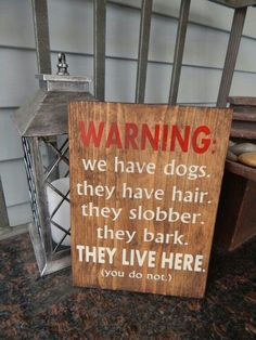 Dog lovers quote sign, Dog quote decor, Warning dog sign, Dog quote wood sign, 'Warning my dog lives here' quote sign Dog lovers sign Dog Lover Quotes, Dog Lovers, Dog Quotes Love, Lilo E Nani, Game Mode, Dog Signs, Funny Signs, Pitbull Terrier, Dog Mom