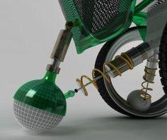 Futuristic hubless wheelchair allows zero footprint-turning circle