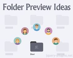 Folder Preview Ideas using CSS and Javascript #preview #animation #hover #css #javascript #effect #folder #idea