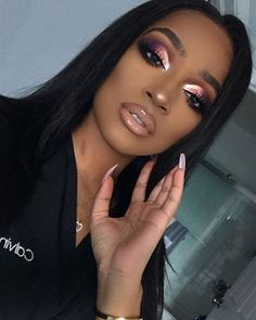 Makeup Eye Looks, Cute Makeup, Glam Makeup, Gorgeous Makeup, Pretty Makeup, Eyeshadow Makeup, Beauty Makeup, Makeup Kit, Maquillage Black
