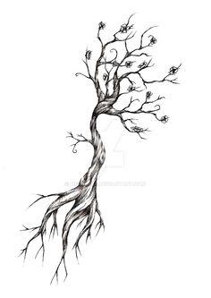 Tree Tattoo Design by meripihka on @DeviantArt