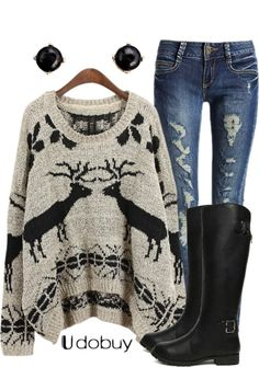 """Ohh, Deer"" by qtpiekelso on Polyvore"