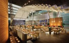 With an open layout and undulating crystal ceiling, BARMASA resembles the world's most refined first-class lounge. This deluxe Japanese eatery in the Aria at CityCenter hotel is run by chef Masa Takayama. He is known for opening America's most expensive restaurant, Masa in New York's Time Warner Center. BARMASA's tabs are similarly stratospheric. But so is the quality of its sushi.