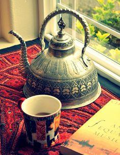 My Dream Canvas: My Home  Love this teapot.