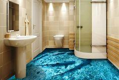 3 d painting on floor 3d Flooring, Floors, Room Themes, Alcove, Bath Mat, 3 D, Bathtub, Painting, Home Decor