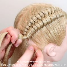 Hair Up Styles, Medium Hair Styles, Natural Hair Styles, Easy Hairstyles For Long Hair, Braids For Long Hair, Girl Hairstyles, Hair Tutorials For Medium Hair, Natural Hair Tutorials, Hair Style Vedio