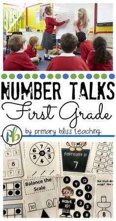 First grade subtraction numberr talk activities. First Grade Lessons, First Grade Activities, Teaching First Grade, First Grade Classroom, 1st Grade Math, Math Classroom, Classroom Activities, Teaching Math, Math Lessons