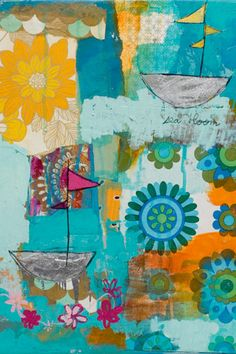 Floral Voyage Canvas Wall Art would make great fabric for a lovely full skirted tea or swing dress