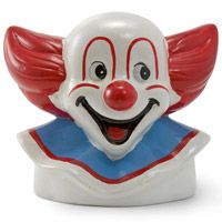 This Bozo the Clown Ceramic Novelty Coin Bank makes great kids room decor. Piggy banks don't come more colorful or nostalgic than a circus clown. Large coin bank made of ceramic. Bozo The Clown, Clowning Around, Savings Bank, Unique Toys, Retro Toys, Childhood Memories, Ceramics, Disney Characters, Cookie Jars