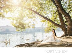 London wedding & Prague pre wedding photographer - Prague pre-wedding portrait session: Catherine's stunning riverside pre wedding portraits. I love the simple images, ones that capture the scenery, the light and ones where nature does its part. Catherine and her husband Cedric.Son traveled over from Korea to have a whirlwind post wedding portrait session in several cities located in Europe. Prague is obviously one of the top pre wedding & engagement locations and so they chose myself and…