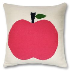 Will need an apple, of course, although probably not this pink one by Jonathan Adler that would put me back 110, aka my whole pillow budget.