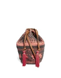 bucket bag with tassels