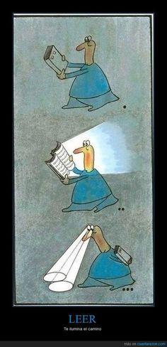 Los #libros son muchas veces linternas en nuestra vida. Seguro que lo has sentido alguna vez ;-) #BibUpo