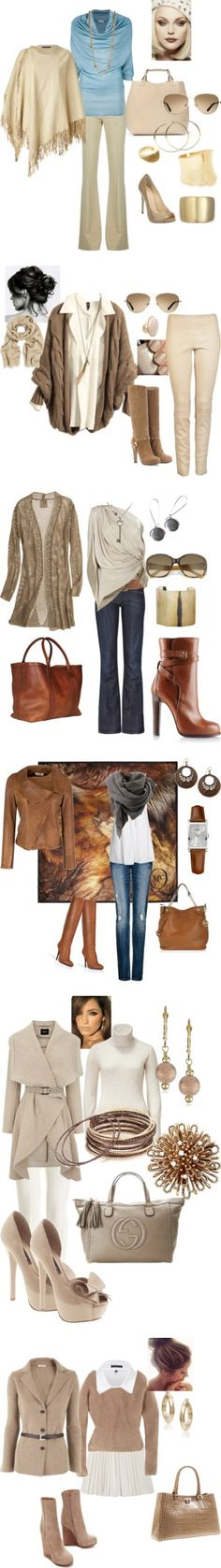 """""""Fall Fashion"""" by fabiam on Polyvore.  I don't particularly care for the second and the last ones."""