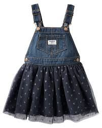 Toddler Girl Sparkle Tulle Jumper from OshKosh B'gosh. Shop clothing & accessories from a trusted name in kids, toddlers, and baby clothes. Oshkosh Baby, Oshkosh Bgosh, Jumper Outfit, Denim Jumper, Denim Skirt, Little Fashionista, Stylish Kids, Kids Outfits, Baby Outfits